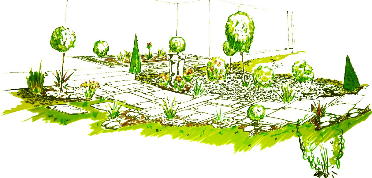 Cr ation am nagement jardin for Conception de jardin 3d